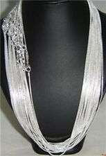 "silver plate  wholesale 100pcs x snake chain 22""1.2mm"