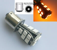 ORANGE AMBER 581 BAU15S 1156 PY21W INDICATOR 18 SMD LED BULB CANBUS ERROR FREE