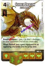 028 COPPER DRAGON Lesser Dragon - Common - BATTLE FOR FAERUN - D&D Dice Masters