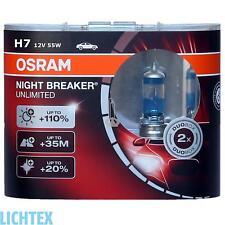 H7 OSRAM NIGHT BREAKER UNLIMITED-Power +110% in più di luce-DUO-Box NUOVO