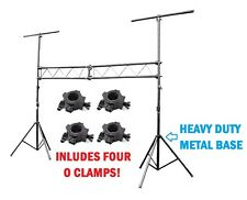 Pro Audio DJ Portable Light Lighting Fixture T Bar Stands 10Ft Truss Package