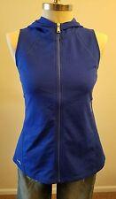 New Ralph Lauren Vest Women Royal Blue Full Zip Hood Soft Size Medium THESPOT917