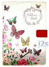 BRAND NEW OFFER A-Z A5 Telephone Address Book Hardback Designer Fabric Butterfly