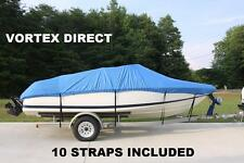 VORTEX BLUE 16' TO 17.5' VH BOAT COVER FOR FISHING/SKI/RUNABOUT