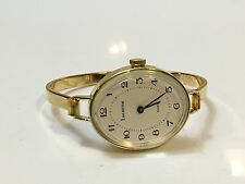Lucerne Swiss Vintage Ladies  Gold Tone Windup Bangle Watch-New Old Stock(NOLS11