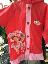 Girl 6-7 Yrs Small Strawberry Shortcake Raincoat Spring Summer Red ~ Gently Used