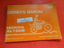 OEM FACTORY OWNERS MANUAL HONDA 1980 XL100S 68 PAGES
