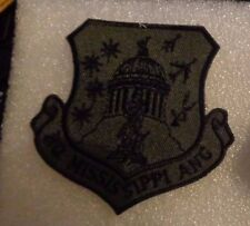 USAF FLIGHT SUIT PATCH, STATE HEADQUARTERS MISSISSIPPI AIR NATIONAL GUARD,SUB