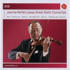 JASCHA HEIFETZ - J. H. PLAYS GREAT VIOLIN CONCERTOS 6 CD BACH,MOZART UVM NEU