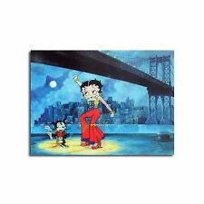 "Lenticular Betty Boop 3D Spanish Dog Dance 4x6"" Postcard Post Card #BB-215-PC#"