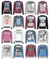 Conspiracy Printed Crew Neck Sweatshirt New Men's Graphic Print Sweat Top Jumper
