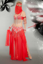 Lady BOLLYWOOD GENIE Costume Harem Girl Belly Dancer Adult Medium Large 8 10 12