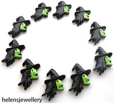 10 HALLOWEEN WITCHES KITCH CABOCHONS KAWAII DECODEN - FAST FREE SHIPPING