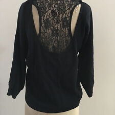 Ladies GUESS Lace Back Insert Knit Cardigan Size L