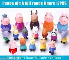Peppa Pig Friends Amigos Toys Pepa Pig Family Kids Jugete 17 pcs