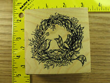 Rubber Stamp PSX Wreath w/ Bird and Nest G1213 Stampinsisters #3468