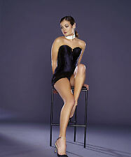 Cat Deely 8X10 sexy black mini skits and corset