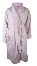 M&S Ladies Woman Dressing Gown Pink Grey Animal Bath Robe 8 10 12 14 16 18 20 22