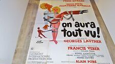 pierre richard ON AURA TOUT VU  ! g lautner  affiche cinema 1976