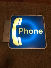 "Vintage Bell System Western Electric Two Sided Lighted Phone Booth 23"" Sign"