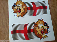 ENGLAND Flag St George Lion Van Car Motorcycle Stickers Decals 2 off 100mm
