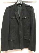 Just Cavalli Roberto Cavalli Black Cotton Men's Blazer Jacket Sz54