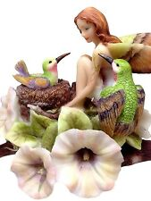 JODY BERGSMA A DREAM WITHIN A DREAM HUMMINGBIRD FAIRY STATUE FIGURINE