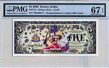 2005 T $5 Disney Dollars PMG Graded 67 EPQ DIS110 GOOFY 50TH ANNIVERSARY