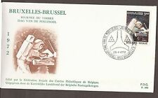 1972 BRUSSELS PHILATELIQUE EXPOSITION - FIRST DAY COVER + SOUVENIR CARD