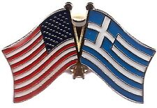 LOT OF 12 Greece Friendship Flag Lapel Pins - Greek Crossed Flag Pin