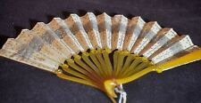 ELEGANT ANTIQUE 19THc FRENCH HAND FAN  BY ERNEST KEES – ART NOUVEAU – RR574
