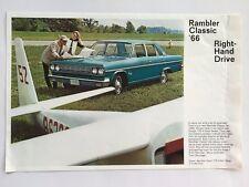 1966 Rambler Classic Right Hand Drive Original Car Sales Brochure Folder
