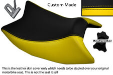 YELLOW & BLACK CUSTOM FITS DERBI GPR 125 50 SIDE EXHAUST 07-13  FRONT SEAT COVER