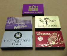 5 x Vintage Singapore Hotels Match Box Only___NO MATCHES  #1