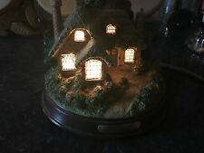 Thomas Kinkade Everett's Cottage Table Lamp and Nite Lite Excellent Condition