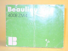 Original(!) Beaulieu 4008 ZM4 Owner's Manual - in Swedish!
