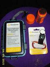OUTDOOR PRODUCTS Compass Carabiner Keychain + Watertight phone case + matchcase