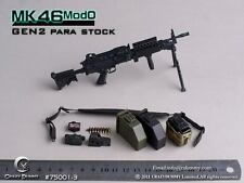 CRAZY DUMMY MK46 MOD0 GEN2 Para Stock Machine Gun 1/6 Black