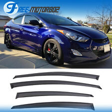 For 11-15 Hyundai Elantra Window Visor Vent Shade Rain Sun Wind Guard