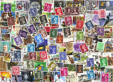 A Collection Of 200 Different GREAT BRITAIN Stamps, Including Older Issues