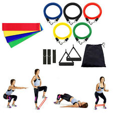 15in1 Yoga Pilates Exercise Fitness Workout Bands+Resistance Training Loops