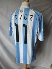 Used in VGC - Genuine Argentina 2010 Word Cup Home Shirt TEVEZ 11 - Mens XL