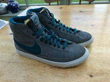 WOMENS NIKE GREY TRAINER UK 5 HI TOP SHOES SPORT BASKETBALL LACE UP
