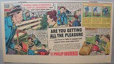 "Phillip Morris Cigarette Ad: ""Lawn Care Tips"" from 1950's 7.5 x 15 inches"