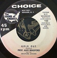 Black Gospel 45 Prof. Alex Bradford Hold out / Jesus keep me near the cross