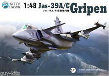 "Avion multi-rôle Suédois JAS-39 A/C ""GRIPEN"" - KIT KITTY-HAWK 1/48 N° 80117"