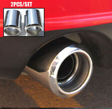 2X MUFFLER  TIPS FIT FOR MAZDA 6 CX-5 EXHAUST TAILPIPE END TRIM CHROME COVER LID