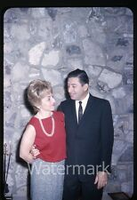 1960s 35mm  photo slide Teen Man and Lady at house party Beverly Hills CA
