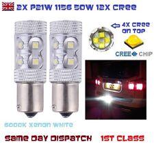 2x p21w ba15s 1156 382 50w CREE Bulbo Xenon Bianco 6000k AUTO REVERSE smettere di nebbia DRL