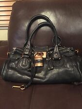 Authentic Chloe Paddington Black Satchel